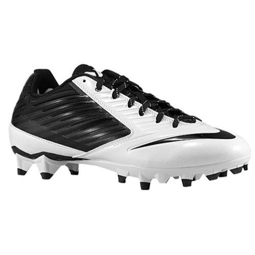 Nike Men's Vapor Speed Low TD Football Cleat Black/White/Black Size 11.5 M US