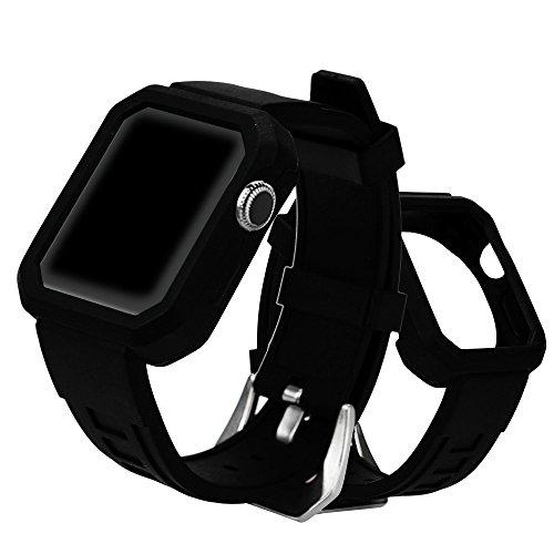 Dreamyth Hot Sale Silica Gel Buckle Wrist Watch Band Strap Belt for Apple Watch Series 3/2/1 42mm (Mosaic Protective Case)