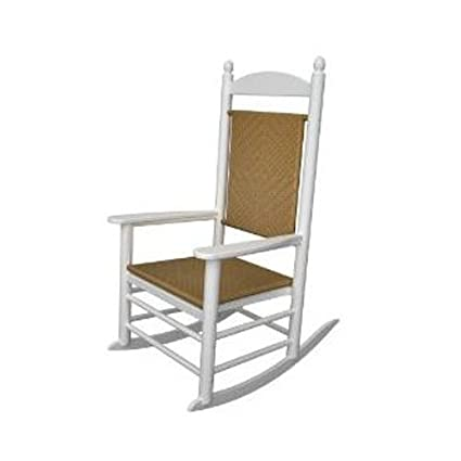 Terrific Polywood Outdoor Furniture Kennedy Rocker With Tiger Weave Black Recyled Home Interior And Landscaping Ferensignezvosmurscom