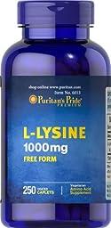 Puritan\'s Pride L-Lysine 1000 mg-250 Caplets