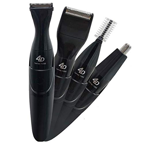 Painless Men's 4 in 1 Grooming Kit Cordless Electric Hair Clippers, Beard Trimmer, Mustache Shaver