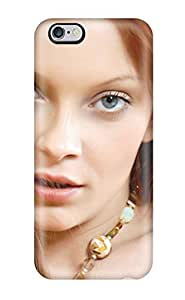 Awesome Women Face Flip Case With Fashion Design For Iphone 6 Plus(3D PC Soft Case) BY icecream design