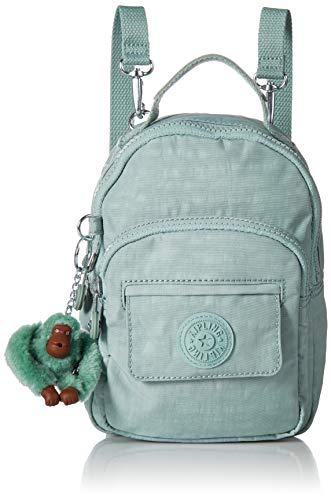 Kipling Women's Alber 3-in-1 Convertible Mini Bag Backpack, Wear 3 Ways, Zip Closure, fern green tonal ()