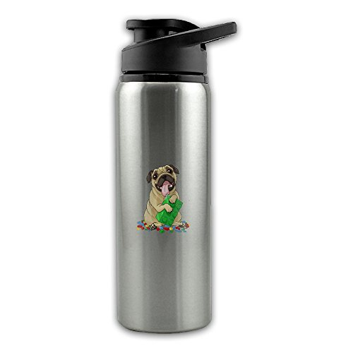 (Lego Pugs And Bricks Stainless Steel Layer Sports Water Bottle With Wide Mouth 24oz)