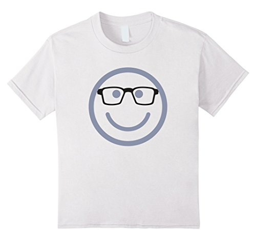 Kids Nerd Face with Glasses Funny Costume Halloween T-Shirt 8 (Nerd Halloween Costumes Ideas For Kids)