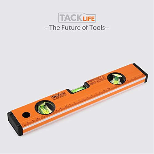 TACKLIFE MT-L03 12-Inch Level Aluminum Alloy Magnetic Torpedo Level Plumb/Level/45-Degree Measuring Shock Resistant Spirit Level with Standard and Metric Rulers by TACKLIFE (Image #7)