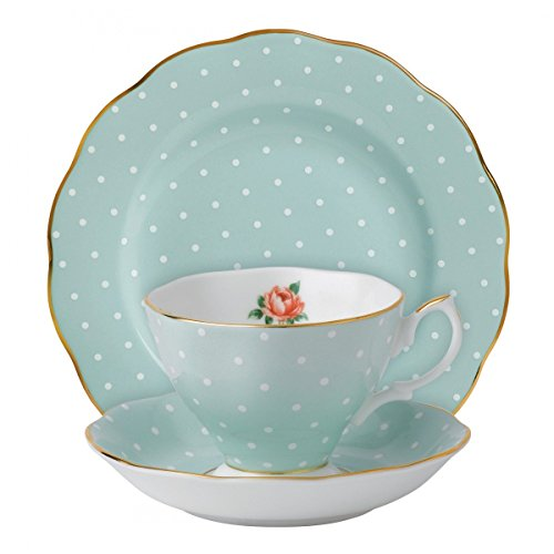 Royal Albert Polka Rose Vintage 3-Piece Place Setting ()
