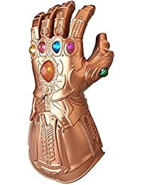 Infinity War Thanos Gauntlet for Adult, LED Light Up Glove Cosplay Costume Props Accessories Gold