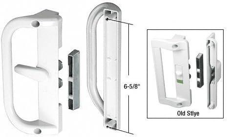 Color blanco superficie montado gancho estilo tirador de puerta corredera de cristal 6 – 5/8 in Tornillo Agujeros por CR Laurence: Amazon.es: Bricolaje y herramientas