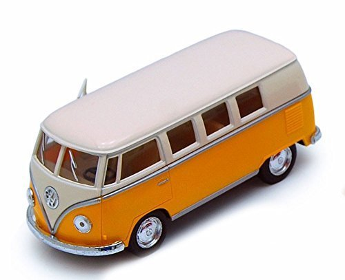 1962 Volkswagen Classical Bus, Yellow - Kinsmart 5377D - 1/32 scale Diecast Model Toy Car (Brand New, but NO BOX)