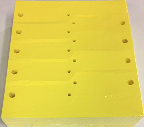 Key Tag Vinyl Arrow Self Locking Yellow Blank (5000 Qty) (A41) (Tag Key Vinyl)
