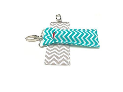 chapstick-key-chain-holder-2-pack-lip-balm-holder-in-chevron-colors-mint-gray