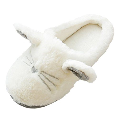 Home House Shoes bestfur Soft Cozy Slippers Plush Cat Cute Women Comfortable Sole for p8g4xS