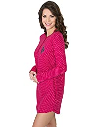 Women's Button Front Long Sleeve Cotton Pajama...