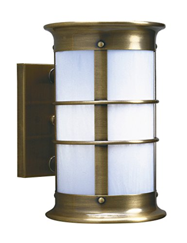 Arroyo Craftsman Newport Sconce Pewter Metal Finish, Rain Mist Glass, 9