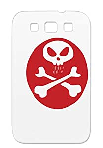Skeleton Birthday Cigarette Mouse Satire Disney Halloween Death Funny Funny Head Monster Red Case Cover For Sumsang Galaxy S3