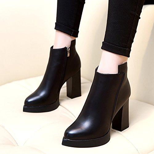 KHSKX-Die Winter Schuhe Frauen Haben Hochhackige Damenschuhe Und - Stiefel Mit Martin Stiefel Dicke Wasserdichte Plattform Unten Frauen Kurze Stiefel