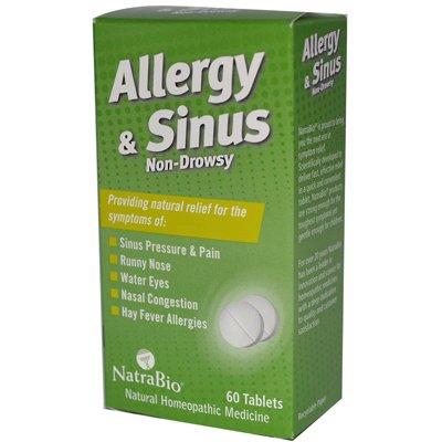 Natrabio Allergy And Sinus Non-Drowsy - 60 Tablets - Pack Of 1 Natra Bio Allergy Relief Non Drowsy Tablets