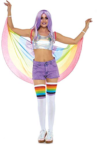 (Leg Avenue Women's Costume, Rainbow, One Size)