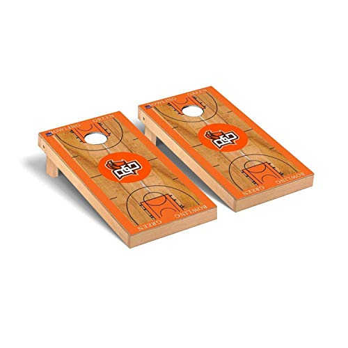 Victory Tailgate Regulation Collegiate NCAA Basketball Court Series Cornhole Board Set - 2 Boards, 8 Bags - Bowling Green State (Best Victory Tailgate Bowling Bags)