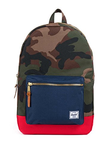 Herschel Supply Co. Settlement, Woodland Camo/Navy/Red, One (Woodland Camouflage Shoulder Bag)