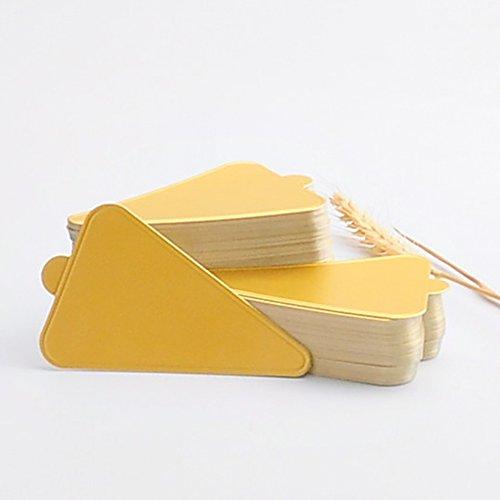 HansGo 100 PCS Mini Triangle Golden Cardboard Cake Bases Cake Circle