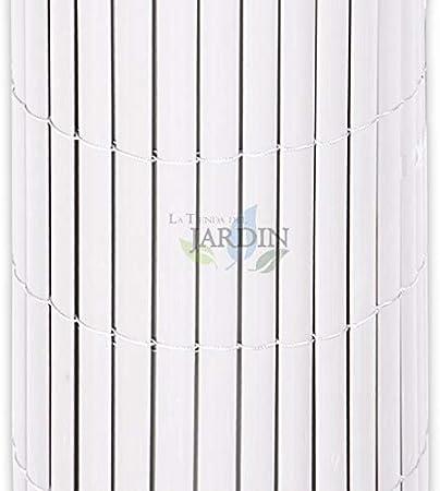 CAÑIZO de OCULTACIÓN blanco PVC, para jardines, terrazas y balcones. (1,5 x 5 m): Amazon.es: Bricolaje y herramientas