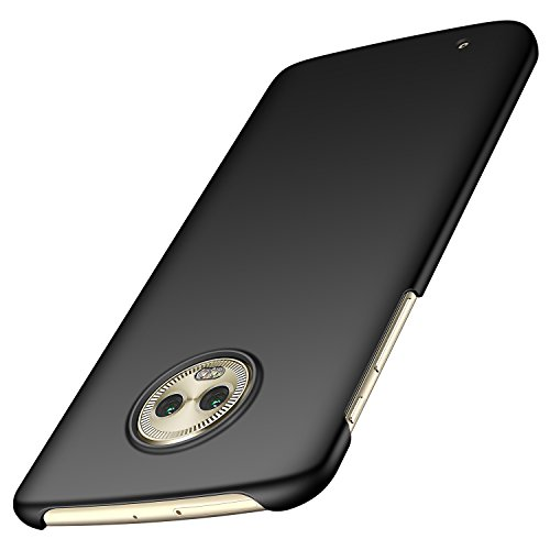 - Anccer Moto G6 Case [Colorful Series] [Ultra-Thin] [Anti-Drop] Premium Material Slim Fit Cover for Moto G6 (Not Fit for Moto G6 Plus) - Smooth Black