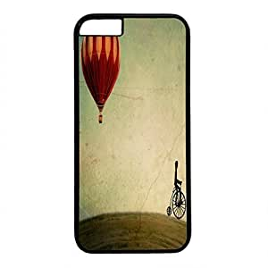 Hard Back Cover Case for iphone 6 Plus,Cool Fashion Black PC Shell Skin for iphone 6 Plus with Penny Farthing For Your Thoughts