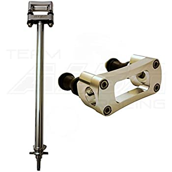 1 Black Steering Stem with 1-1//8 Anti Vibe Bar Clamp TRX 400EX Blue 740 BL Compatible with Honda