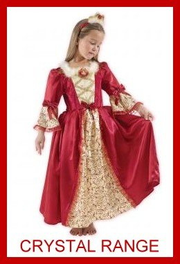 Disney Princess Beauty And The Beast Red Belle Fancy Dress Costume Age 7 8