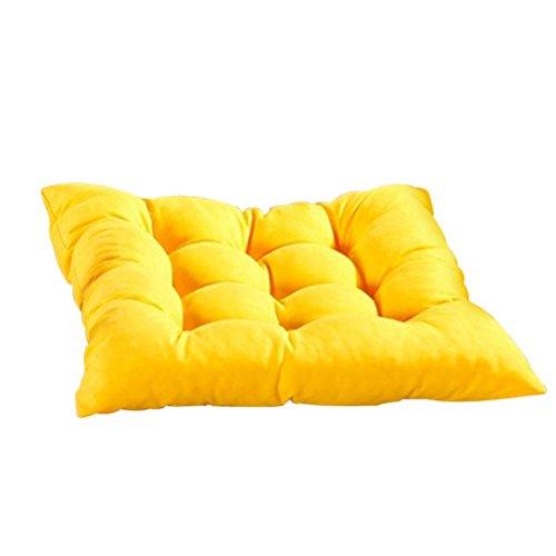 OUNONA Floor Pillow Cushion Seating for Indoor Outdoor Garden Home Office(Yellow) (1pcs)
