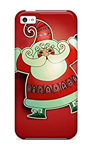For CaseyKBrown Iphone Protective Case, High Quality For Iphone 5c Father Christmas Santa Claus Skin Case Cover