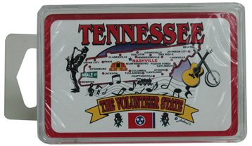 Tennessee Playing Cards- State Map [96 Pieces] - Product Description - Tennessee Playing Cards- State Map. The Volunteer State. Plastic Box. Dimensions: 4.5'' X 2.25'' X 0.75''. ...