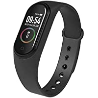 SBA999 M4 Band with Activity Tracker | Waterproof Technology | Pedometer | Heart Beat Sensor | Blood Pressure Monitor Compatible with Android and iOS Devices (Assorted Colour)