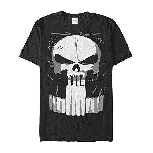 Marvel Men's Halloween Punisher Costume Black T-Shirt -