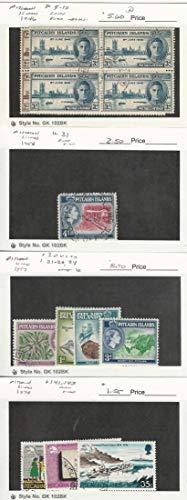 Pitcairn Islands, Postage Stamp, 9-10 Block, 31, 20//24, 141-3 Used & Mint, JFZ