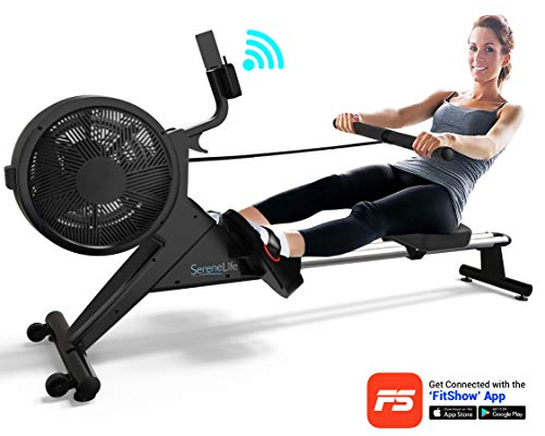 Buy Smart Rowing Machine - Home Rowing Machine with Smartphone Fitness Monitoring App - T Bar Row Ma...