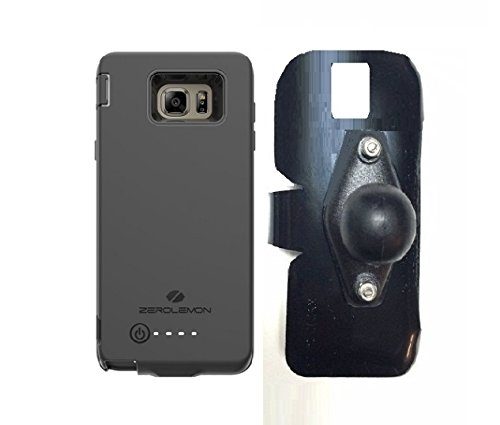 SlipGrip RAM Holder For Samsung Galaxy Note 5 Using Zerolemon 8500mAh EXT BAT Case ()