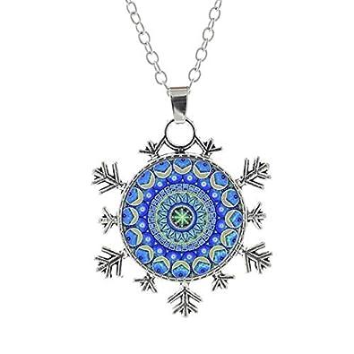 DADATU Mandala de Yoga Indio Flor Collar de Copo de Nieve ...
