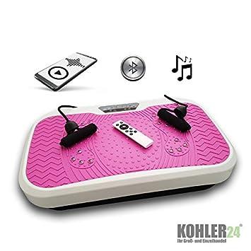 Plataforma vibratoria con conexión Bluetooth; incluyemando a ...