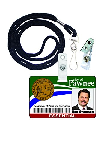 Ron Swanson Parks and Rec Novelty ID Badge Film Prop for Costume and Cosplay • Halloween and Party Accessories