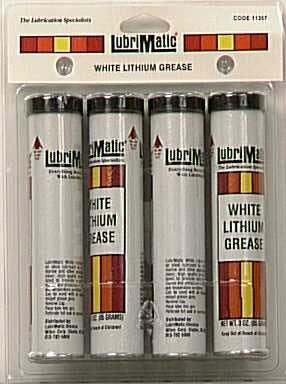 Pk/4 x 12: Lubrimatic White Lithium Grease (11357) by LubriMatic