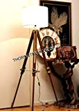 THORINSTRUMENTS (with device) Thor Vintage Classic Tripod Floor Lamp Nautical Floor Lamp Home Decor lamp
