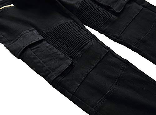 Mininess Slim Black Elasticizzato Pantalone Fit Jeans Pants Uomo Base Dritto nrnZ10x