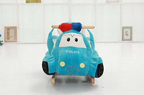 DanyBaby Rocking Ride On Toy Rocking Plush Police Car-ASTM Safety Approved by DanyBaby