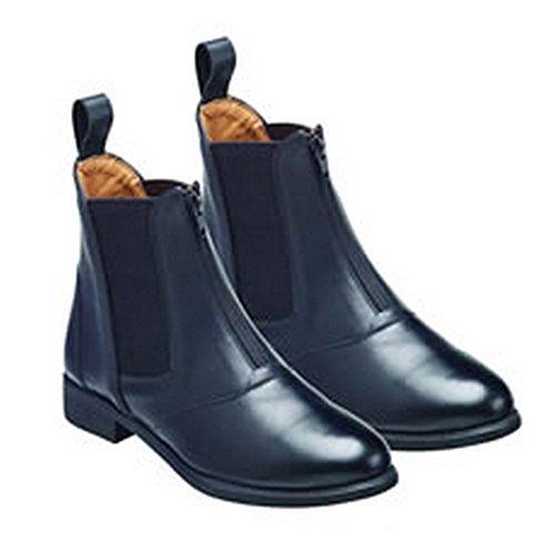 Harry Hall Womens/Ladies Hartford Zip Front Leather Jodhpur Boots (8 US) (Black) ()