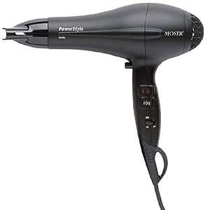 Moser Profiline PowerStyle - Secador de pelo (iónico, 2000 W, 2 velocidades, 4 niveles de calor, botón de frío, LED), color negro