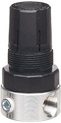 Parker R37 Miniature Series Aluminum Regulator, Relieving Type, NPT