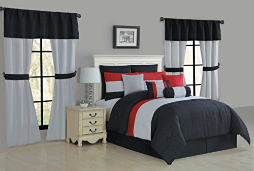red and gray curtains - 6
